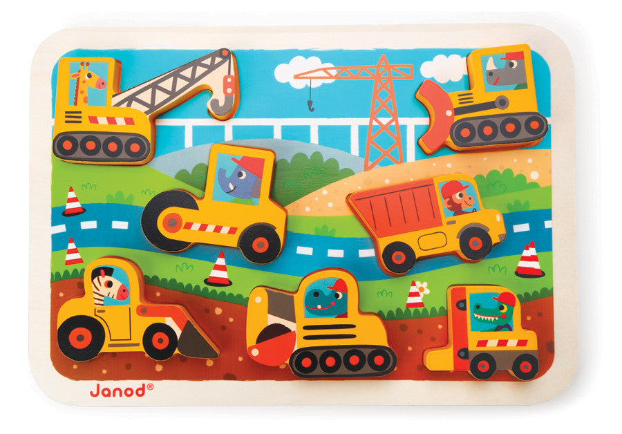 Janod - Contruction Chunky Puzzle - Earth Toys