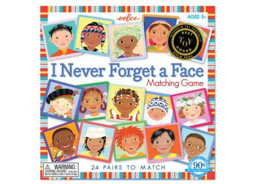 Never Forget a Face Matching Game - Earth Toys
