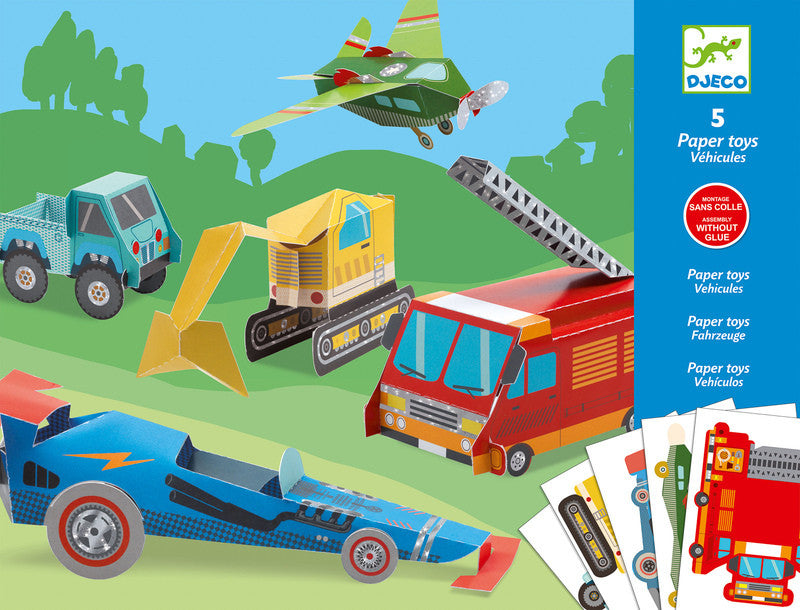 Trucks Paper Toys - Earth Toys - 1