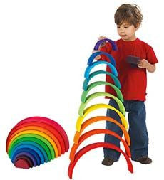 Wooden Stacking Rainbow - Earth Toys - 9