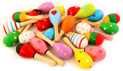 Wooden Decorated Maraca - Earth Toys