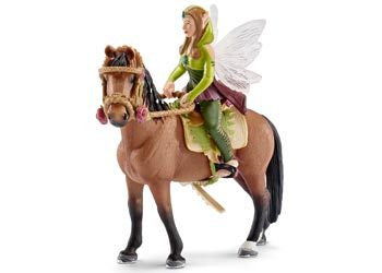 Schleich - Elf Riding Set Forest Elf - Earth Toys