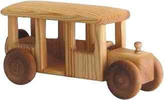 Desbresk Handcrafted Wooden Bus - Earth Toys