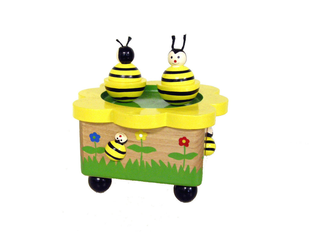 Wooden Magnetic Bee Music Box - Earth Toys