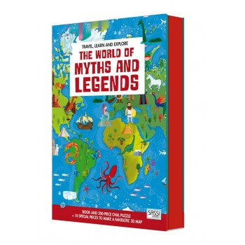 Sassi Travel, Learn & Explore World of Myths & Legends Puzzle, 200 pcs