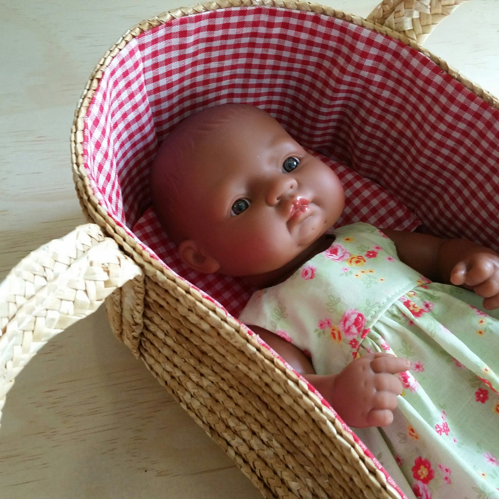 Straw Dolly Carry Basket - Earth Toys - 2