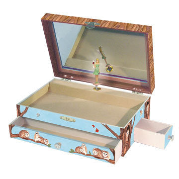 Birds Owl Travellers Music Box - Earth Toys - 1