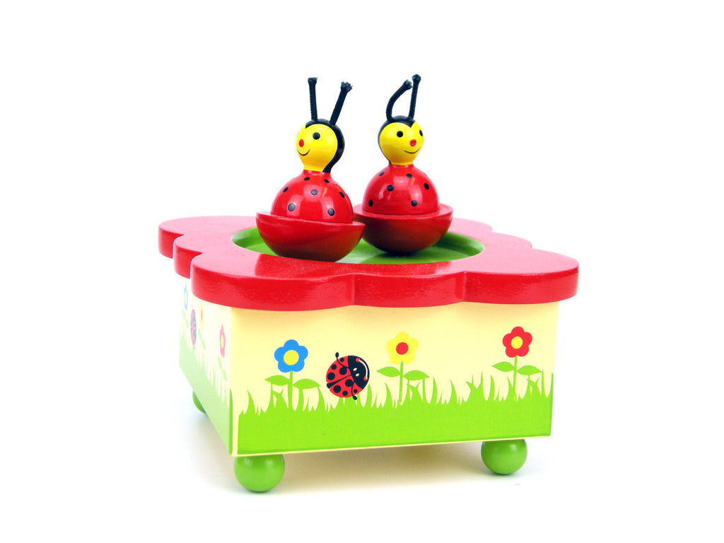 Wooden Ladybird Magnetic Music Box - Earth Toys