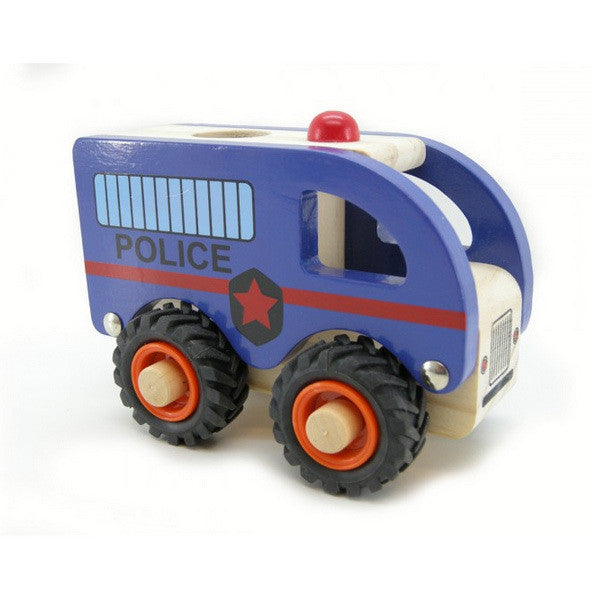 Wooden Police Car - Earth Toys