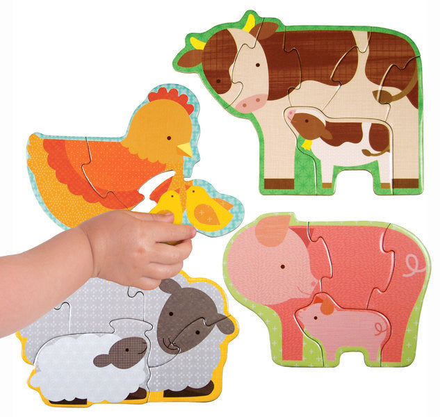 Beginner Puzzle - Farm Babies - Earth Toys - 1