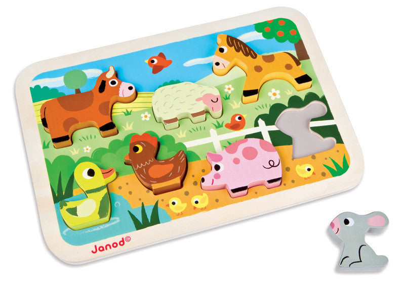 Farm Chunky Puzzle - Earth Toys - 1