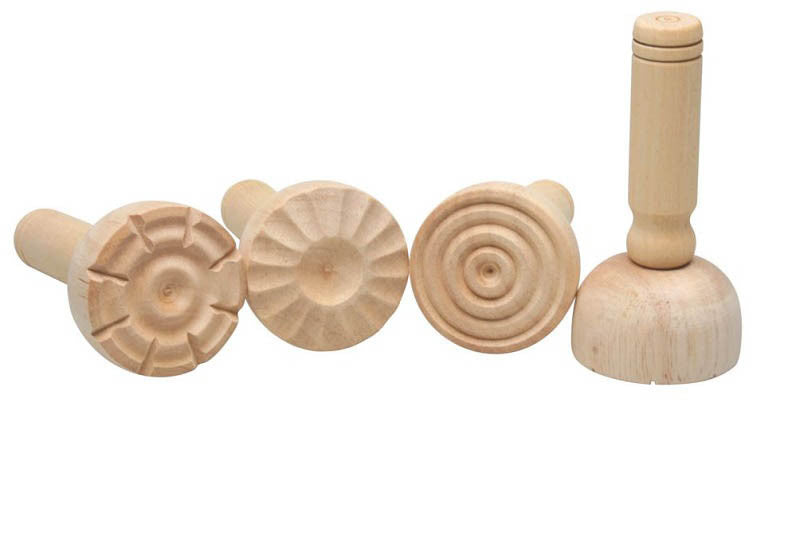 Wooden Dough Stampers Set of 4 - Earth Toys - 2