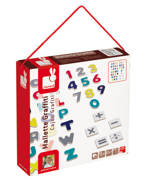 Magnetic Letter & Numbers - Earth Toys - 1