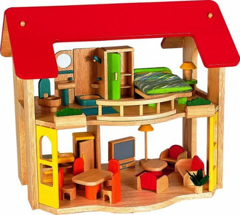 Happy Home Wooden Doll House By Voila