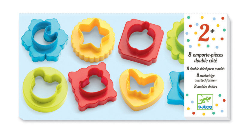 8 Double Side Press Moulds - Earth Toys - 1