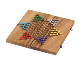 Wooden Chinese Checkers Folding - Square Board - Earth Toys