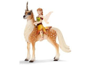 Schleich - Female Elf and Forest Unicorn - Earth Toys
