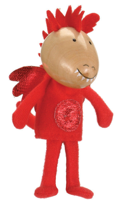 Fiesta Crafts - Red Dragon Finger Puppet - Earth Toys