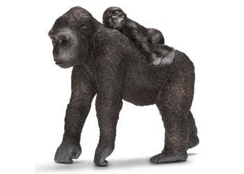 Schleich - Gorilla Female with Baby - Earth Toys