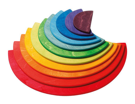 Grimm's Large Rainbow Semi Circles - Earth Toys