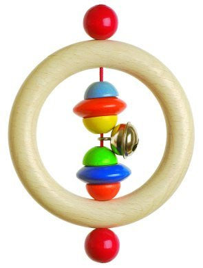 Heimess - Rattle Ring, Beads and Discs - Earth Toys