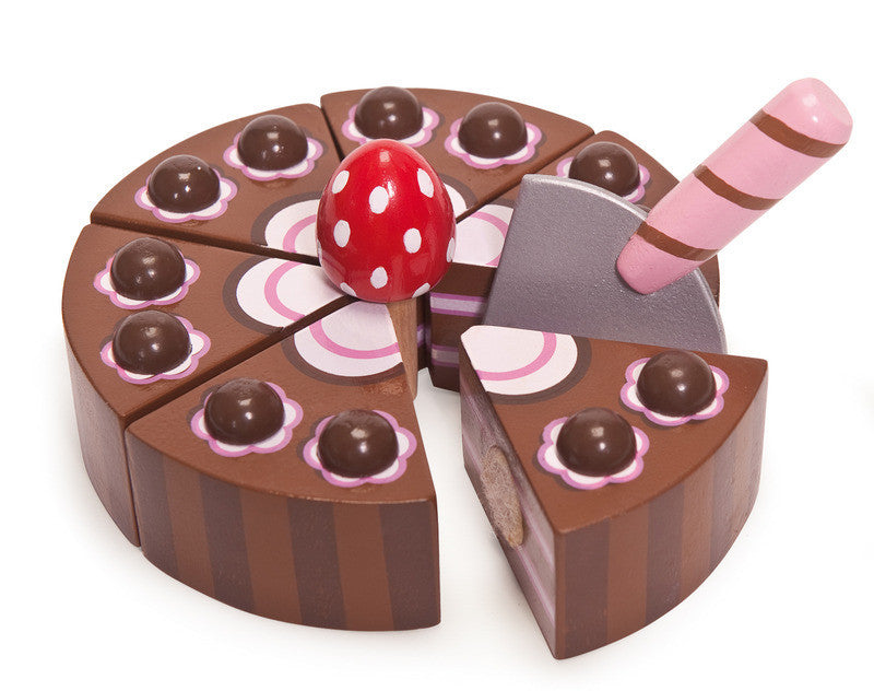 Wooden Chocolate Play Cake - Earth Toys