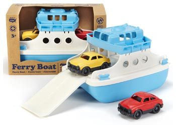 Green Toys - Ferry Boat w/ 2 Mini Cars - Earth Toys - 1