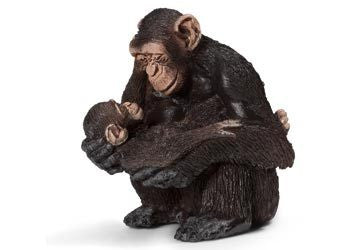 Schleich - Chimpanzee Female with Baby - Earth Toys