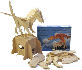 Automaton Dragon Wooden Kit - Earth Toys - 1