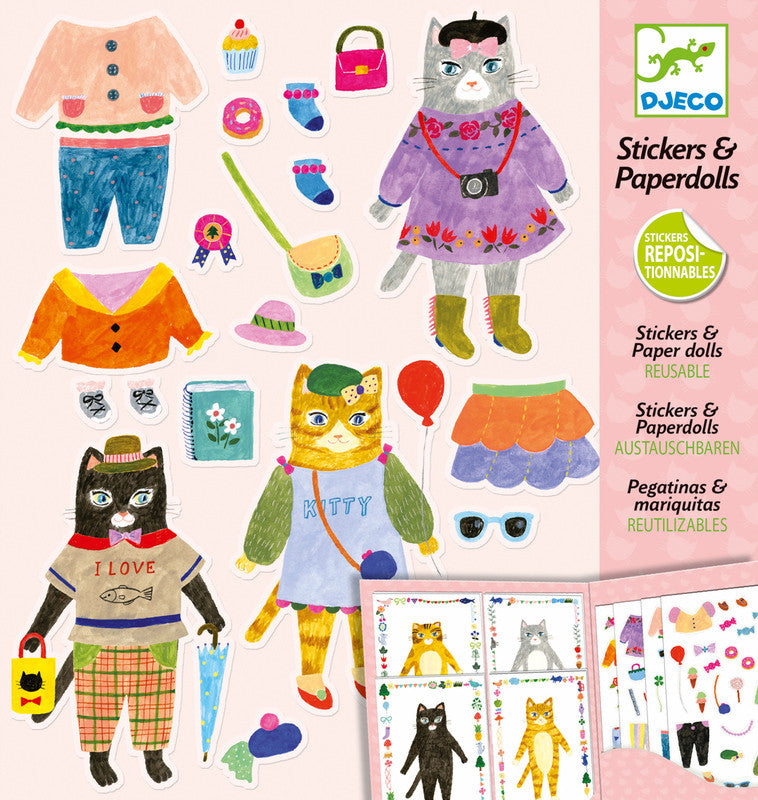 My Cat Friends Stickers And Paper Dolls - Earth Toys