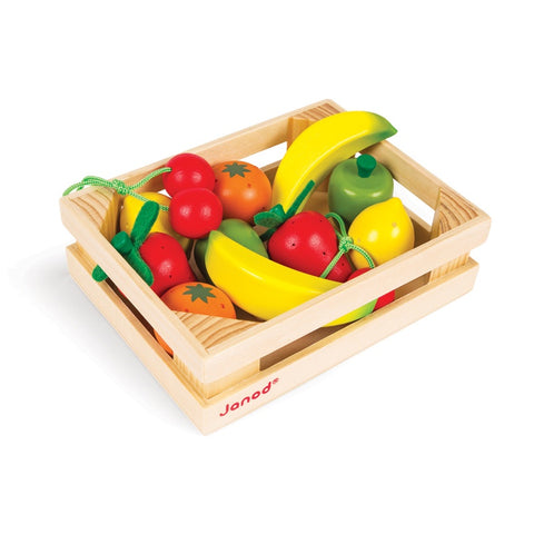 Janod Wooden Fruit Crate