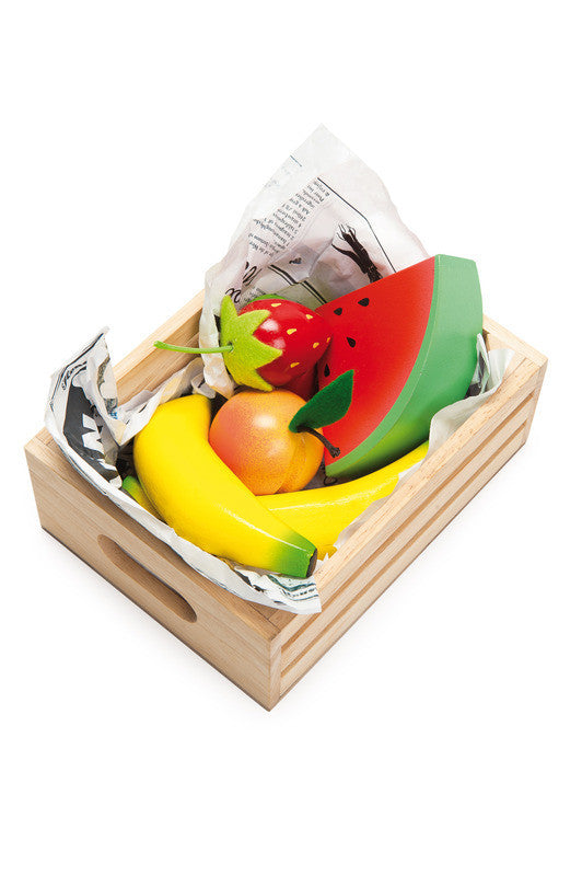 Wooden Smoothie Fruit in a Crate - Earth Toys