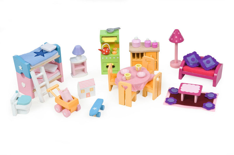 Le Toy Van Delux Furniture Set - Earth Toys - 1