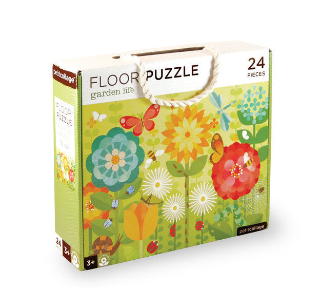 Petit Collage - Floor Puzzle - Garden Life - Earth Toys - 1