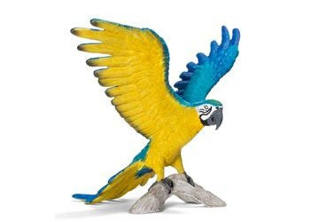 Schleich - Blue-And-Yellow Macaw - Earth Toys