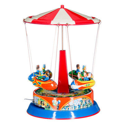 Tin Carousel - Striped Roof - Earth Toys