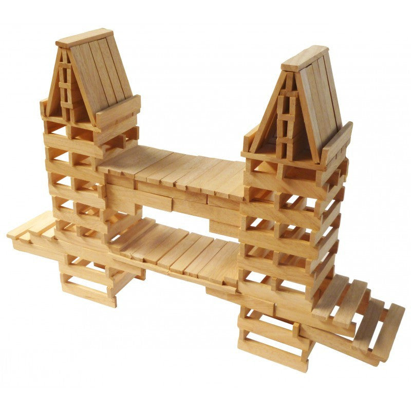 Natural Wooden Planks 200 Pcs - Earth Toys