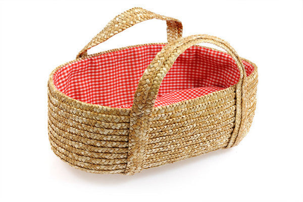 Straw Dolly Carry Basket - Earth Toys - 1