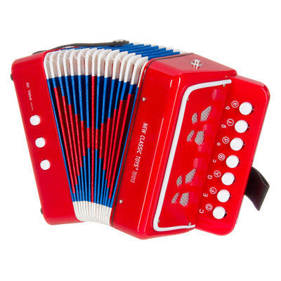 Button Accordion Red - Earth Toys