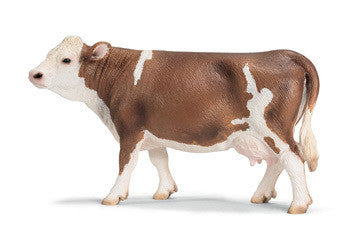 Schleich - Fleckvieh Cow - Earth Toys