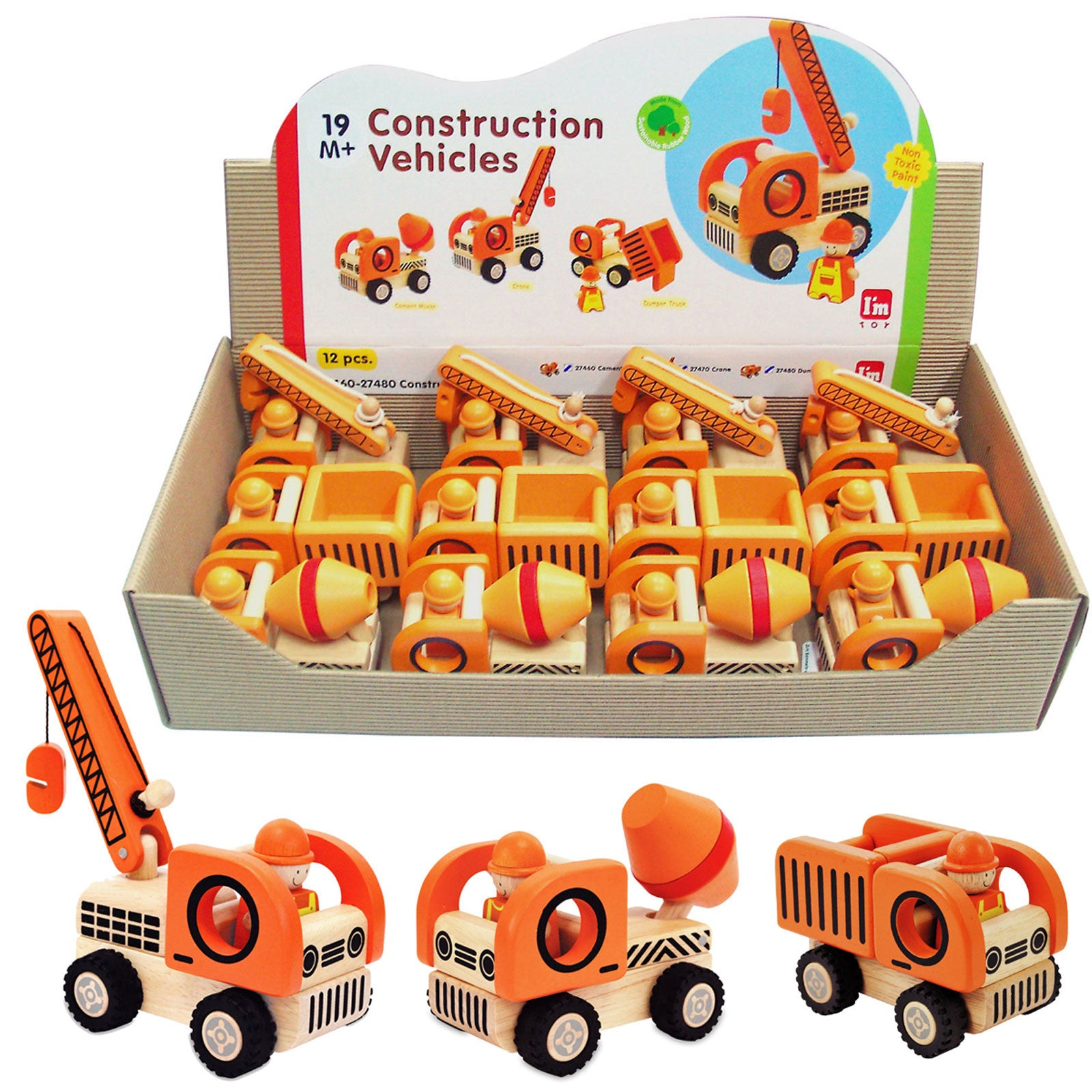 Construction Toys Product : Im toy wooden construction vehicles earth toys
