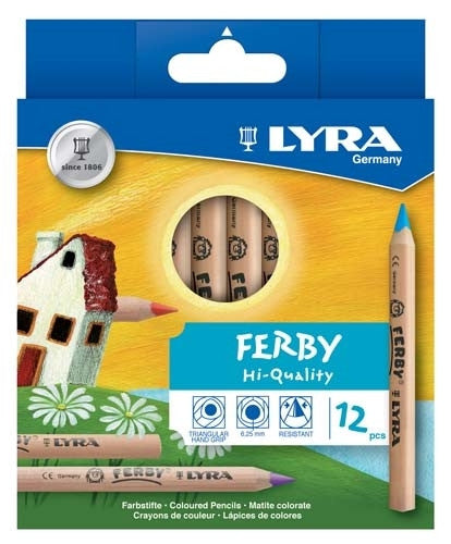 Lyra Ferby Colour Pencils 12pc - Earth Toys