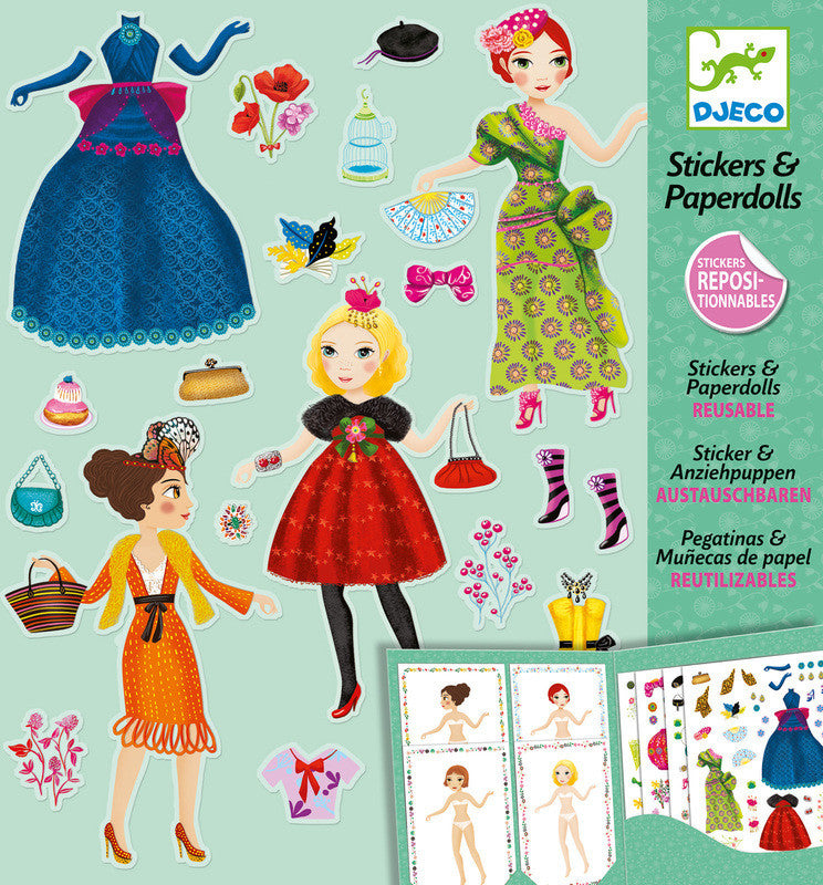 Massive Fashion Paper Dolls - Earth Toys - 1