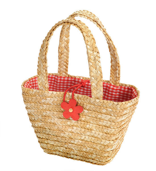 Straw Shopping Bag - Earth Toys