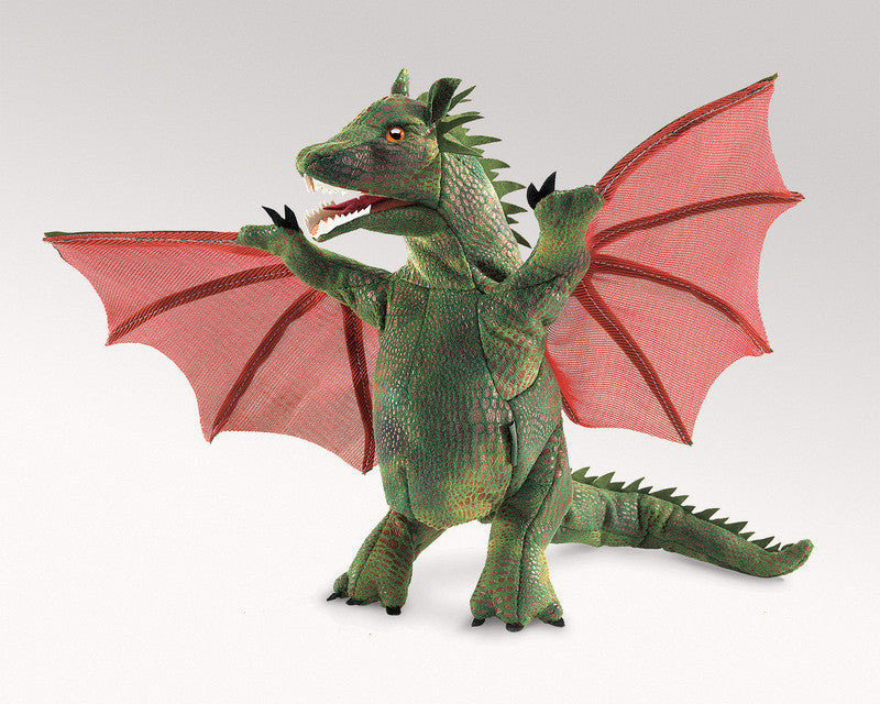 Folkmanis Winged Dragon Hand Puppet - Earth Toys