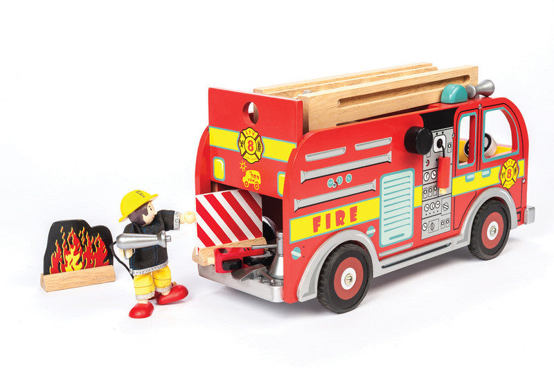 Fire Engine Set Le Toy Van - Earth Toys - 1