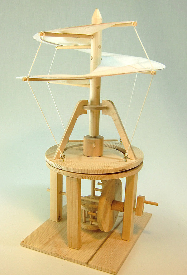 Da Vinci Helicopter Wooden Kit - Earth Toys - 2
