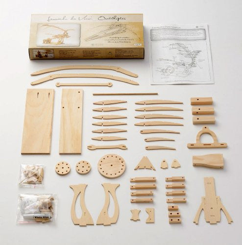 Da Vinci Ornithopter Wooden Kit - Earth Toys - 3