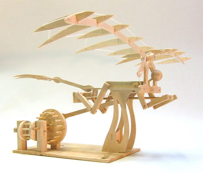 Da Vinci Ornithopter Wooden Kit - Earth Toys - 2