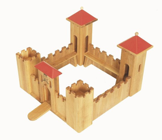 Drewart Wooden Castle small - Earth Toys - 2